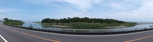 国道42号、雲揚艦祖難(遭難)地の小松原付近