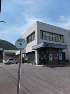 紀宝町 町民バス のりば(JR紀勢本線 紀伊井田駅付近から右折ポイントへ戻る途中)