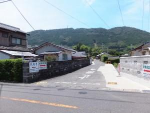 JR紀勢本線 馬場地踏切への右折ポイント