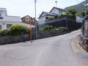JR紀勢本線 馬場地踏切から見松寺方向へ(丁字路を右折)