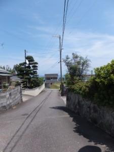 JR紀勢本線 馬場地踏切から見松寺方向へ(丁字路から望む熊野灘方向)