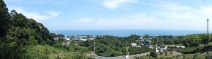 狼煙場跡(紀宝町井田字大石)から井田一里塚跡への途中からの風景