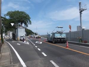 国道42号、JR紀勢本線 鵜殿新宮間 熊野川橋りょう付近