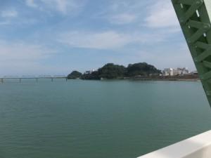 熊野大橋から望む熊野川の下流側