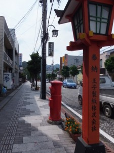 国道42号 速玉大社前交差点から熊野速玉大社へ