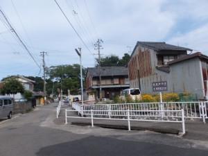 「← 550m 熊野速玉大社 神倉神社 300m →」の道標付近