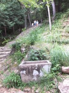 火神社付近、石段の参道(神倉神社)