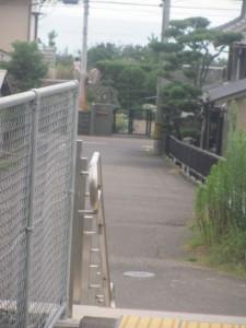JR紀勢本線 紀伊井田駅の先(私が右折ポイントを見落としてたどり着いた場所)