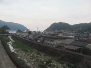 JR紀勢本線の車窓から望む里川橋付近