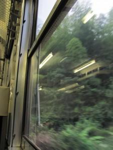 JR紀勢本線の車窓、車中