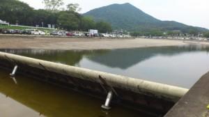 五十鈴川、可動堰付近(2013-08-04)