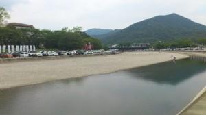 五十鈴川 川曳の出発点付近(2013-08-04)