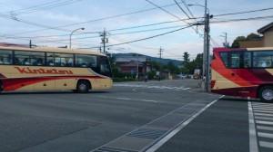 宇治浦田町交差点から望む特別神領民のための奉曳車の上せ車