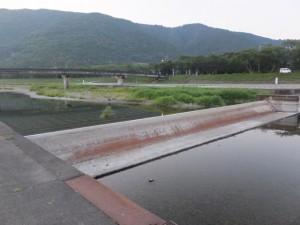 五十鈴川の可動堰付近