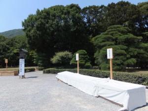 特別神領民のためのお白石渡し場所(内宮)