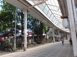 今社と高柳商店街(伊勢市宮町)