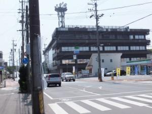 NTT伊勢志摩ビル手前の交差点(特別神領民 お白石持外宮奉献コース)