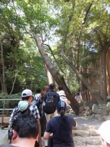 多賀宮への参拝の列