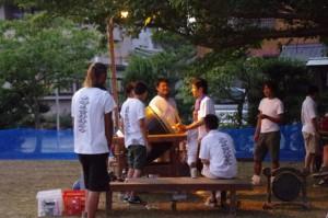 大念仏行事(上條児童公園)