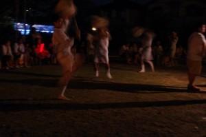 かんこ踊り、大念仏行事(上條児童公園)