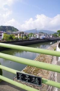 簀子橋(勢田川)から望む外宮奉献の出発点(小田橋)方向
