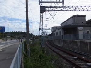 第二伊勢道路の鳥羽南・白木IC入口(近鉄白木駅付近)
