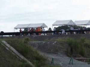 第二伊勢道路開通記念ウォークの受付テント