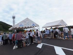 第二伊勢道路開通記念ウォーク(受付テント)
