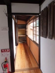 2階の廊下(鳥羽大庄屋かどや)