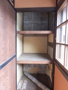 2階廊下の突き当たりにある押入れ(鳥羽大庄屋かどや)