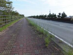 中堤(伊勢市一色町と通町の境界)から国道42号へ