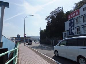 二見興玉神社の裏参道から国道42号へ