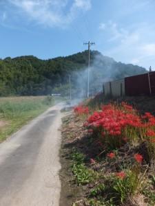 国道42号から粟皇子神社への分岐
