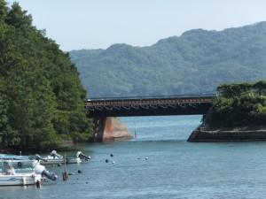 JR参宮線の鉄橋(池の浦)