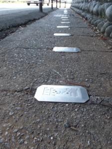 赤崎神社前の歩道