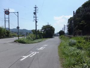 国道167号、近鉄 踏切道 志摩赤崎第九号付近の分岐