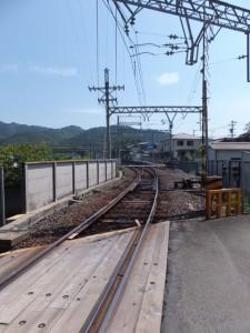 近鉄 踏切道 志摩赤崎第十号付近から望む船津駅