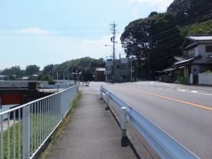 国道167号、杉ケ瀬橋付近