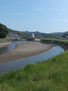 加茂川、杉ケ瀬橋上流側