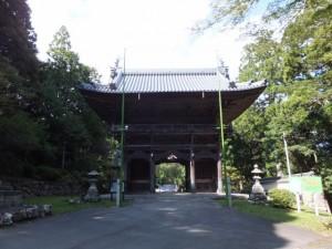 青峯山正福寺の山門(大門)