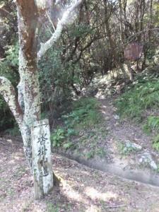近畿自然歩道(青峯山正福寺〜近鉄 上之郷駅)、沓掛山道(磯部道)への分岐