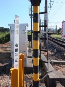 近鉄 踏切道 沓掛第五号、上之郷駅近く