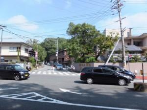 混雑する浦宇治浦田町交差点付近、牛谷坂も渋滞