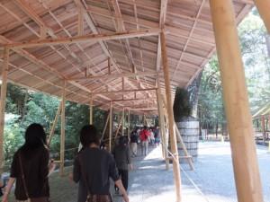 第62回神宮式年遷宮 遷御の儀に向けた準備が進む内宮
