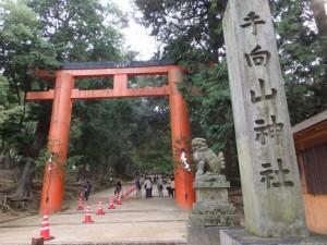 「手向山神社」の社標(手向山八幡宮)