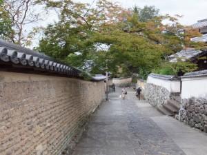 二月堂の石段回廊下から続く下りの坂道