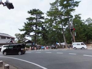 東大寺への参道入口の交差点