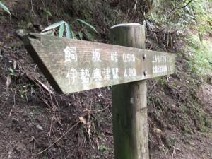 ホトトギスの水付近の道標(伊勢本街道)