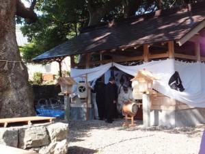 川原祓い終了 八幡神社(鳥羽市船津町)