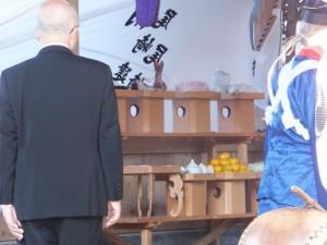 遷座祭のための御饌の準備 八幡神社(鳥羽市船津町)